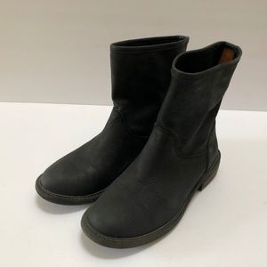 Lucky Brand Black Leather Pull On Boots 6 Nitroh 2